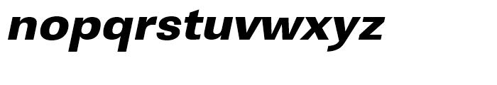 Linear Ultra Bold Wide Oblique Font LOWERCASE