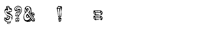 Linotype Dummy Outline Font OTHER CHARS
