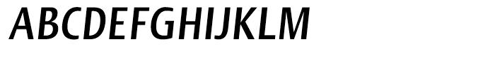 Linotype Ergo Bold Compressed Italic Font UPPERCASE
