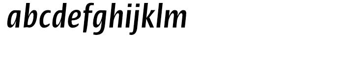 Linotype Ergo Bold Compressed Italic Font LOWERCASE