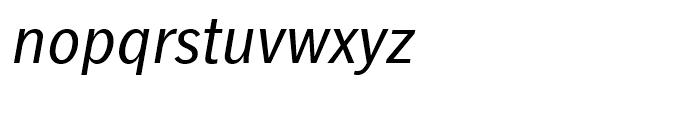 Linotype Gothic Italic Font LOWERCASE