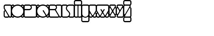 Linotype Mindline Outside Font UPPERCASE