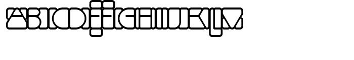 Linotype Mindline Outside Font LOWERCASE