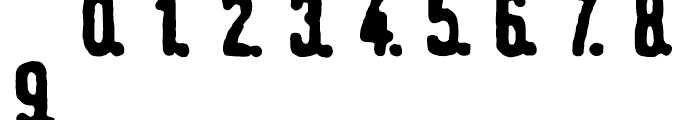 Linotype Tagesstempel Fett Font LOWERCASE