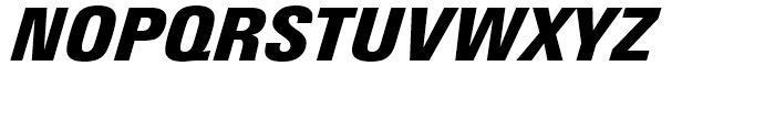 Linotype Univers 921 Condensed Extra Black Italic Font UPPERCASE