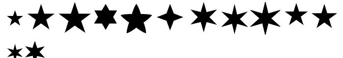 Linotype Xmas Pi 1 Font UPPERCASE
