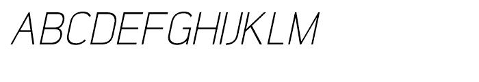 Lintel Light Italic Font UPPERCASE