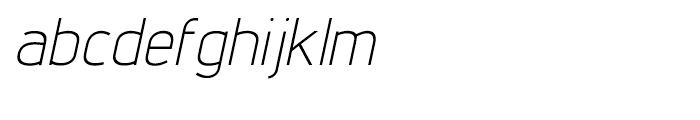 Lintel Light Italic Font LOWERCASE
