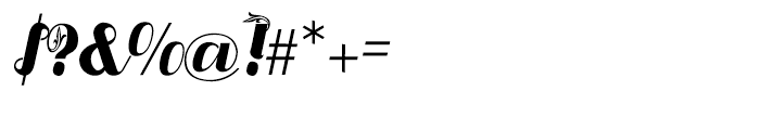 Liquoia B Regular Font OTHER CHARS