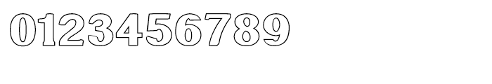 Littler Serifada Outline Font OTHER CHARS