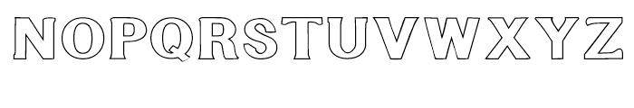Littler Serifada Outline Font UPPERCASE