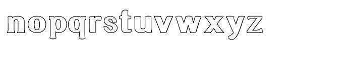 Littler Serifada Outline Font LOWERCASE