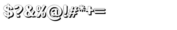 Littler Serifada Shadow Font OTHER CHARS