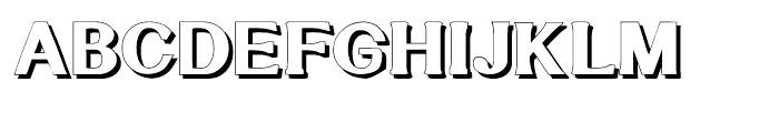 Littler Serifada Shadow Font UPPERCASE