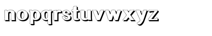 Littler Serifada Shadow Font LOWERCASE