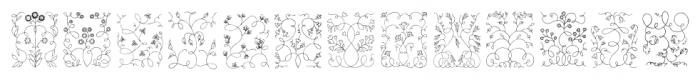 Libertee Ornaments Font LOWERCASE