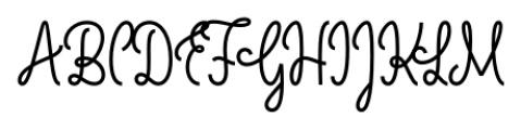 LiebeLotte Bold Font UPPERCASE