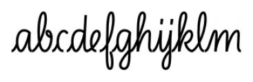 LiebeLotte Bold Font LOWERCASE