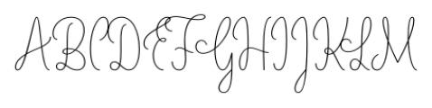 LiebeLotte Light Font UPPERCASE