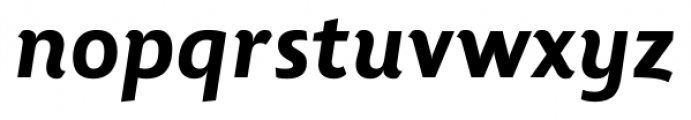 Lisboa Heavy Italic Font LOWERCASE