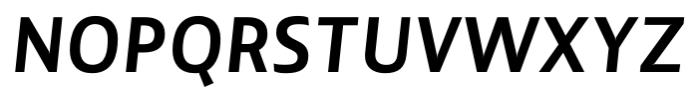 Lisboa Sans Bold Italic Font UPPERCASE