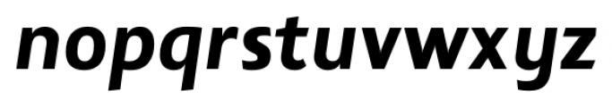 Lisboa Sans Extra Bold Italic Font LOWERCASE