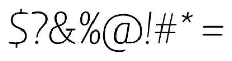 Lisboa Sans Extra Light Italic Font OTHER CHARS