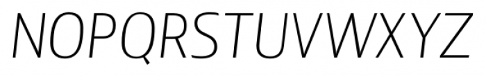 Lisboa Sans Extra Light Italic Font UPPERCASE