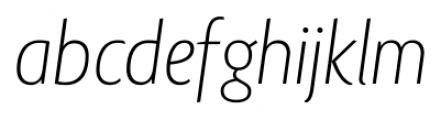 Lisboa Sans Extra Light Italic Font LOWERCASE