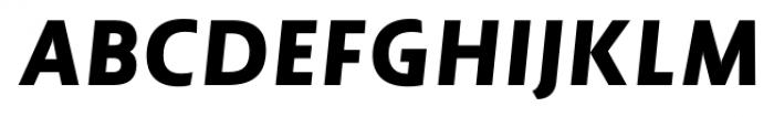 Lisboa Sans Heavy Italic Font UPPERCASE