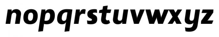 Lisboa Sans Heavy Italic Font LOWERCASE