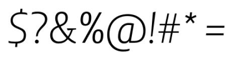 Lisboa Sans Light Italic Font OTHER CHARS