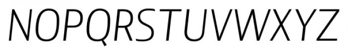 Lisboa Sans Light Italic Font UPPERCASE
