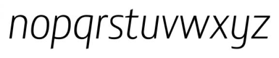 Lisboa Sans Light Italic Font LOWERCASE