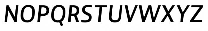 Lisboa Sans Medium Italic Font UPPERCASE