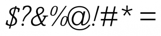Livingston Light Italic Font OTHER CHARS