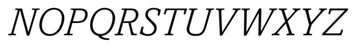 Livingston Light Italic Font UPPERCASE