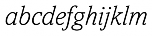 Livingston Light Italic Font LOWERCASE