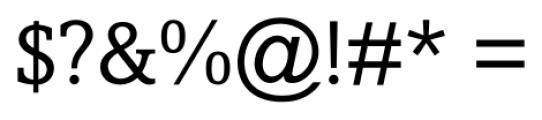 Livingston Regular Font OTHER CHARS