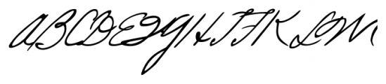 Lizzy Handwriting Regular Font UPPERCASE