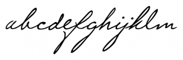 Lizzy Handwriting Regular Font LOWERCASE