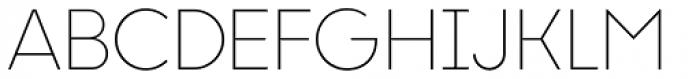 Liber Grotesque Thin Font UPPERCASE