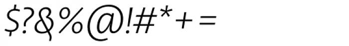 Libertad Light Italic Font OTHER CHARS