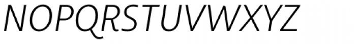 Libertad Light Italic Font UPPERCASE