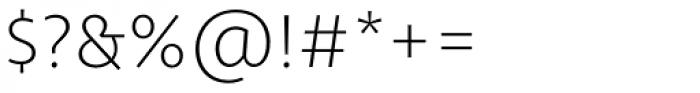 Libertad Thin Font OTHER CHARS