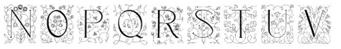Libertee Font UPPERCASE