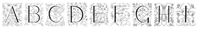 Libertee Font LOWERCASE