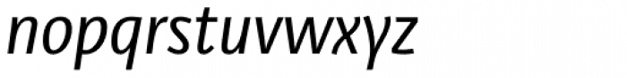 Libre Italic Font LOWERCASE