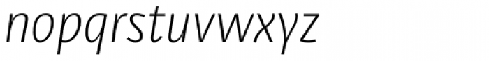 Libre Light Italic Font LOWERCASE