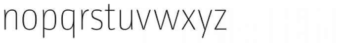 Libre UltraLight Font LOWERCASE